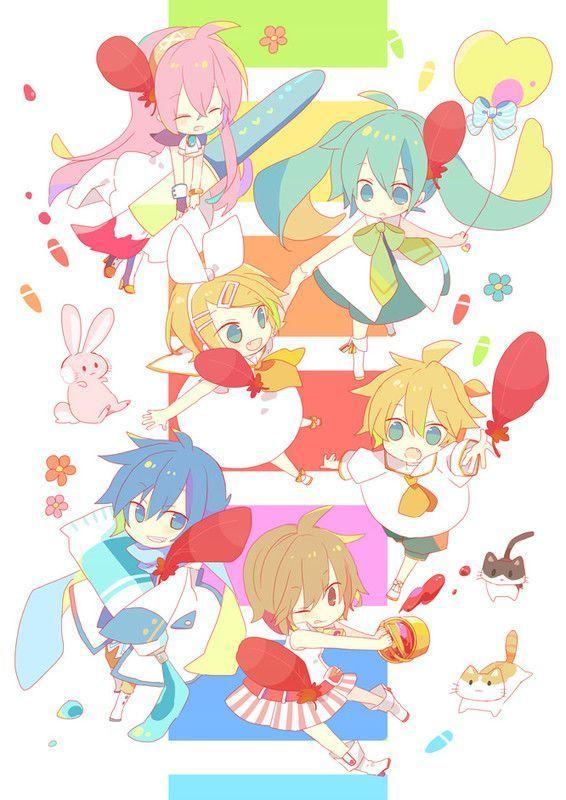 Chibis Vocaloids